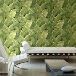 banana leaf bold wallpaper print
