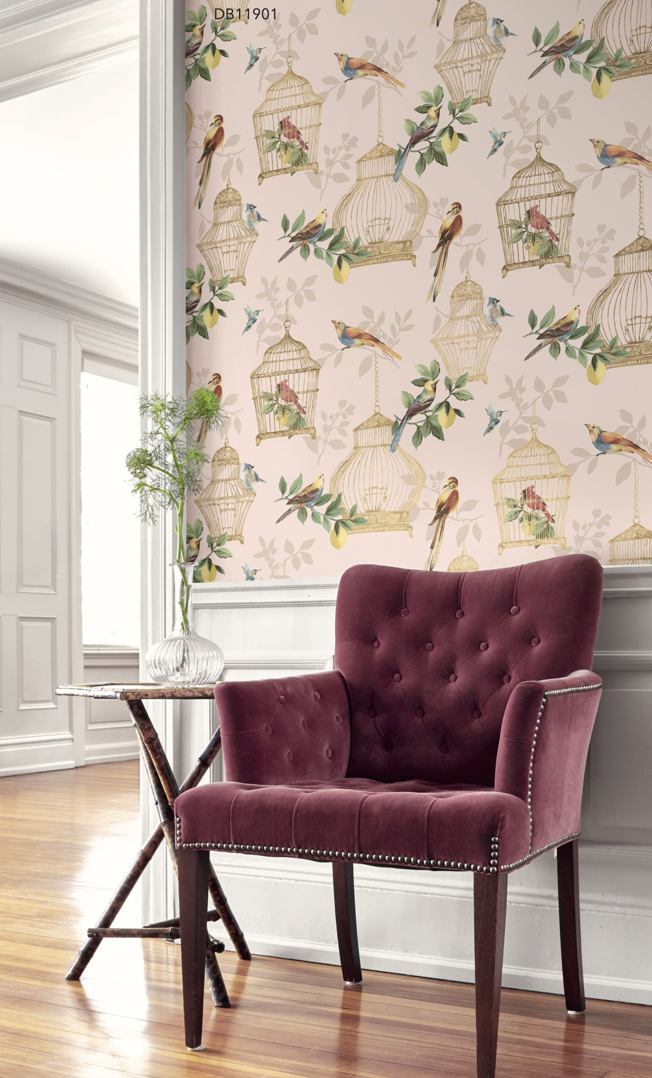 Blush Audubon Wallpaper