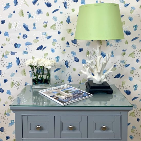 painters pallatte wallpaper design with home accent pieces