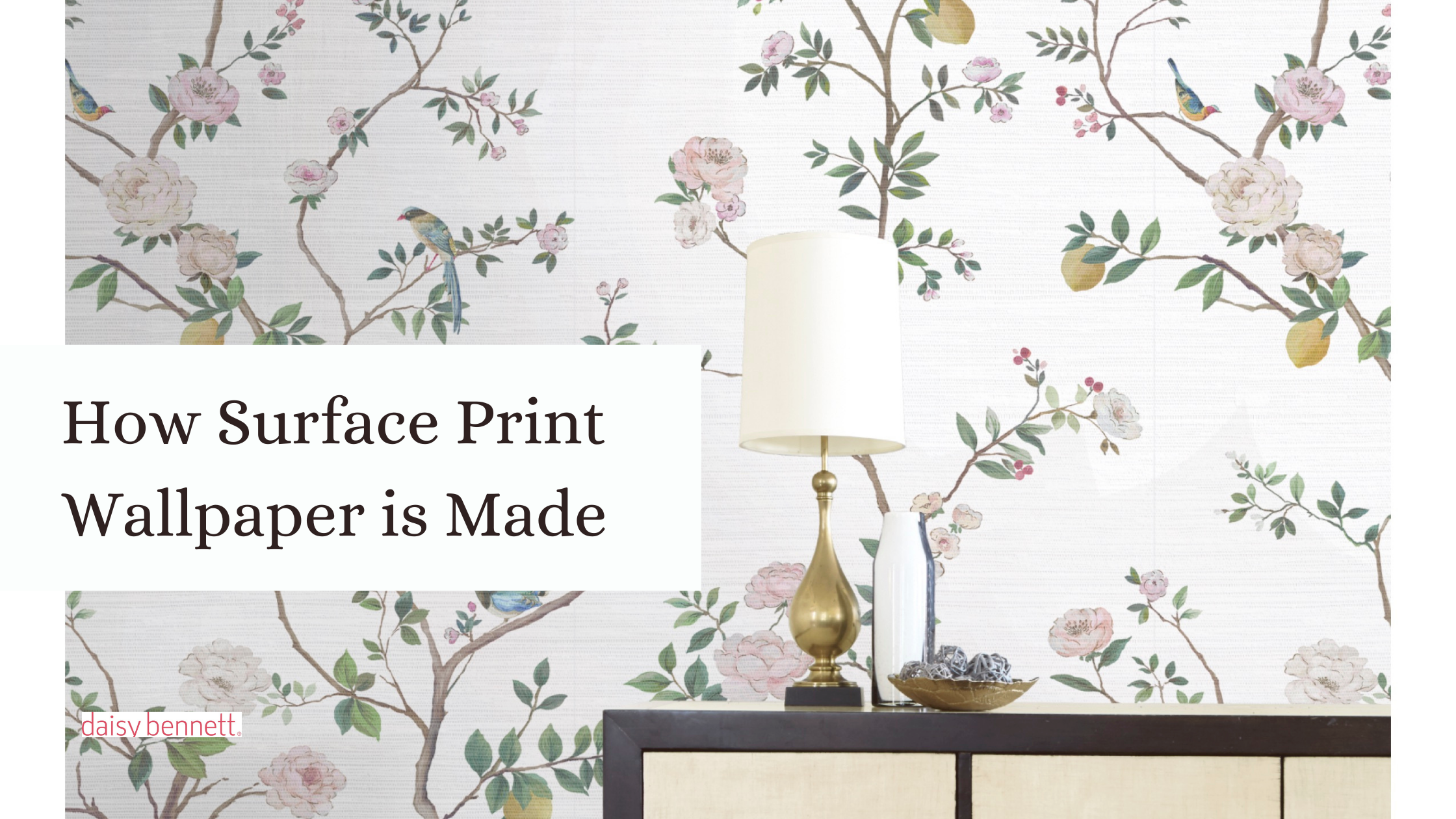 how surface print wallpaper is made, image of a decorated wallpaper